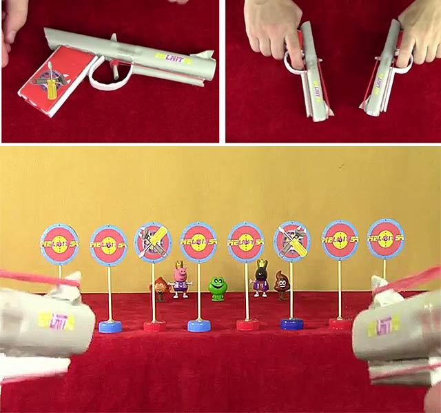 як зробити пістолет з паперу схеми
