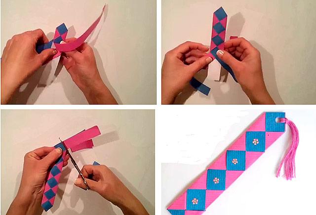 плетені закладка з паперу