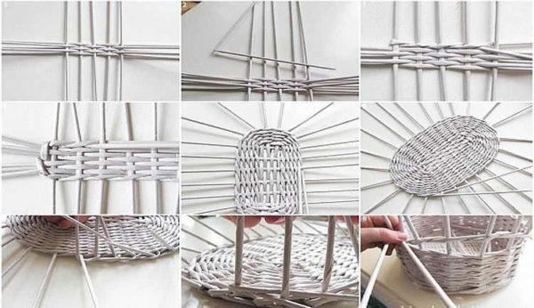 плетіння з газетних трубочок для початківців