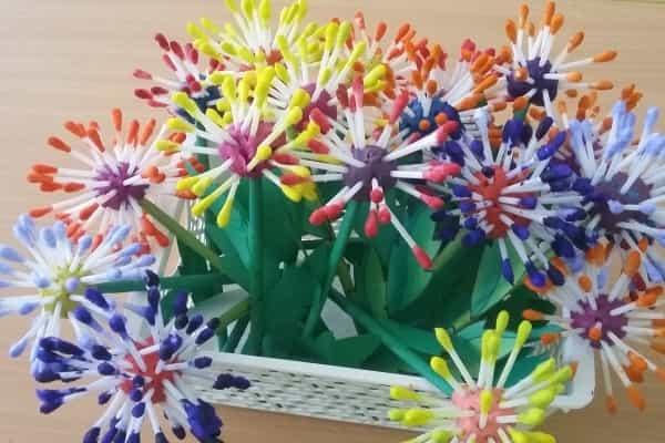 квіти з пластиліну