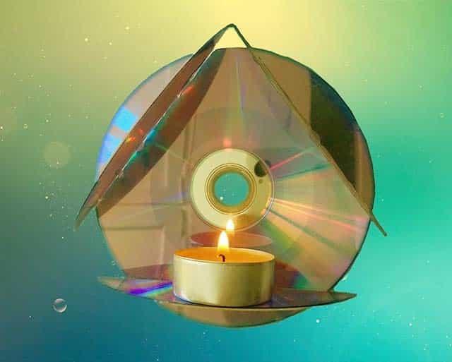 свічник з дисків