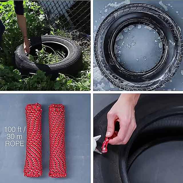 як використати старі шини