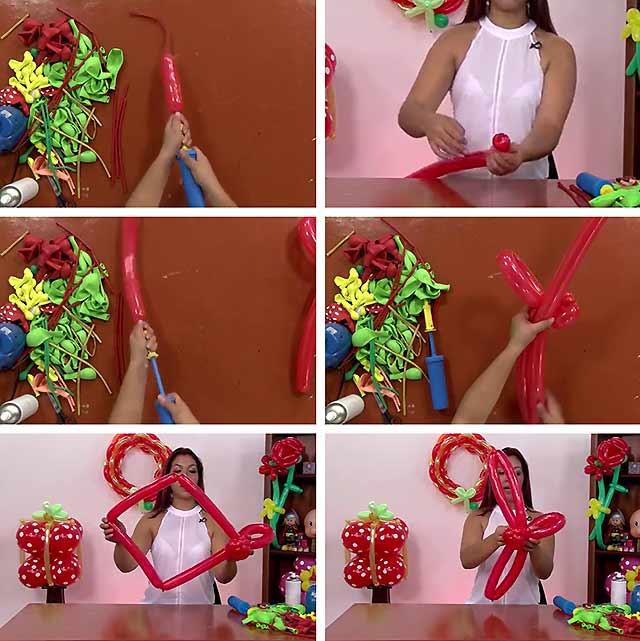 троянда з шариків фото