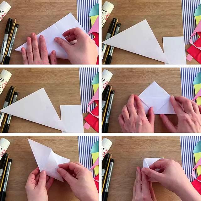 складання куточка паперу