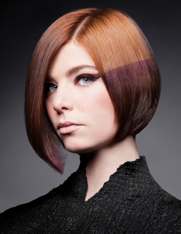 Трафаретне фарбування на коротке волосся