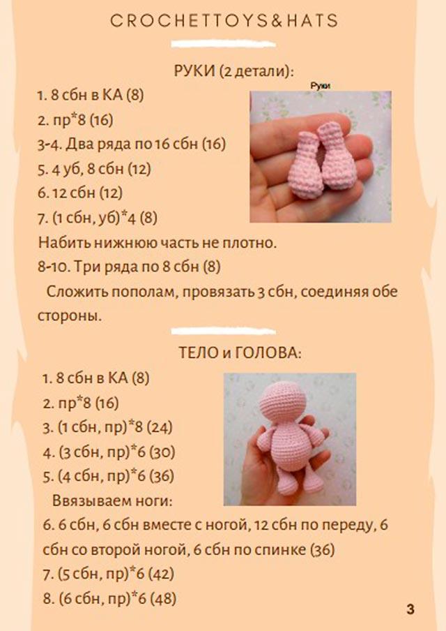 схема тіла і голови свинки