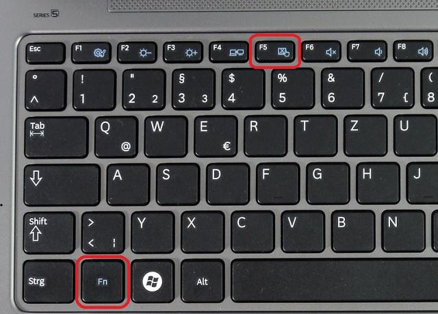 Як включити тачпад на ноутбуц