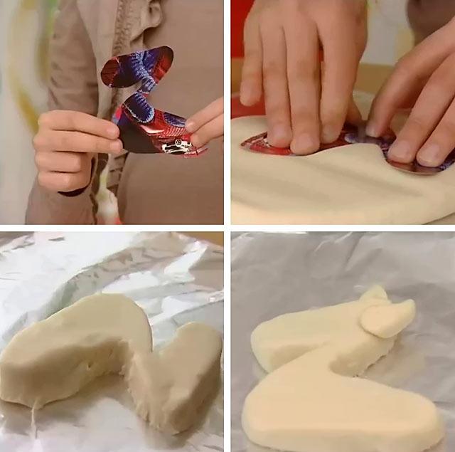 трафарет для виготовлення виробу з солоного тіста