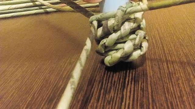 плетіння паперовими трубочками