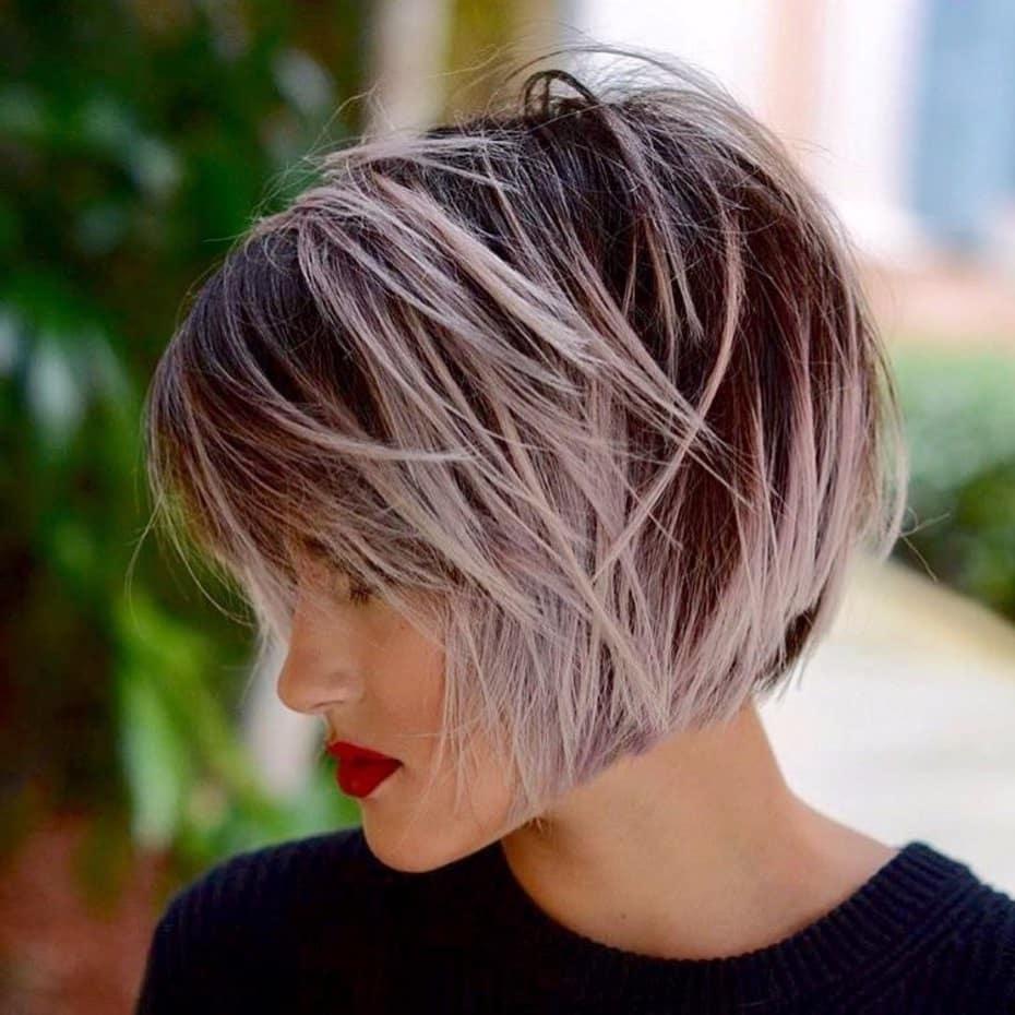 модне фарбування на коротке волосся 2019