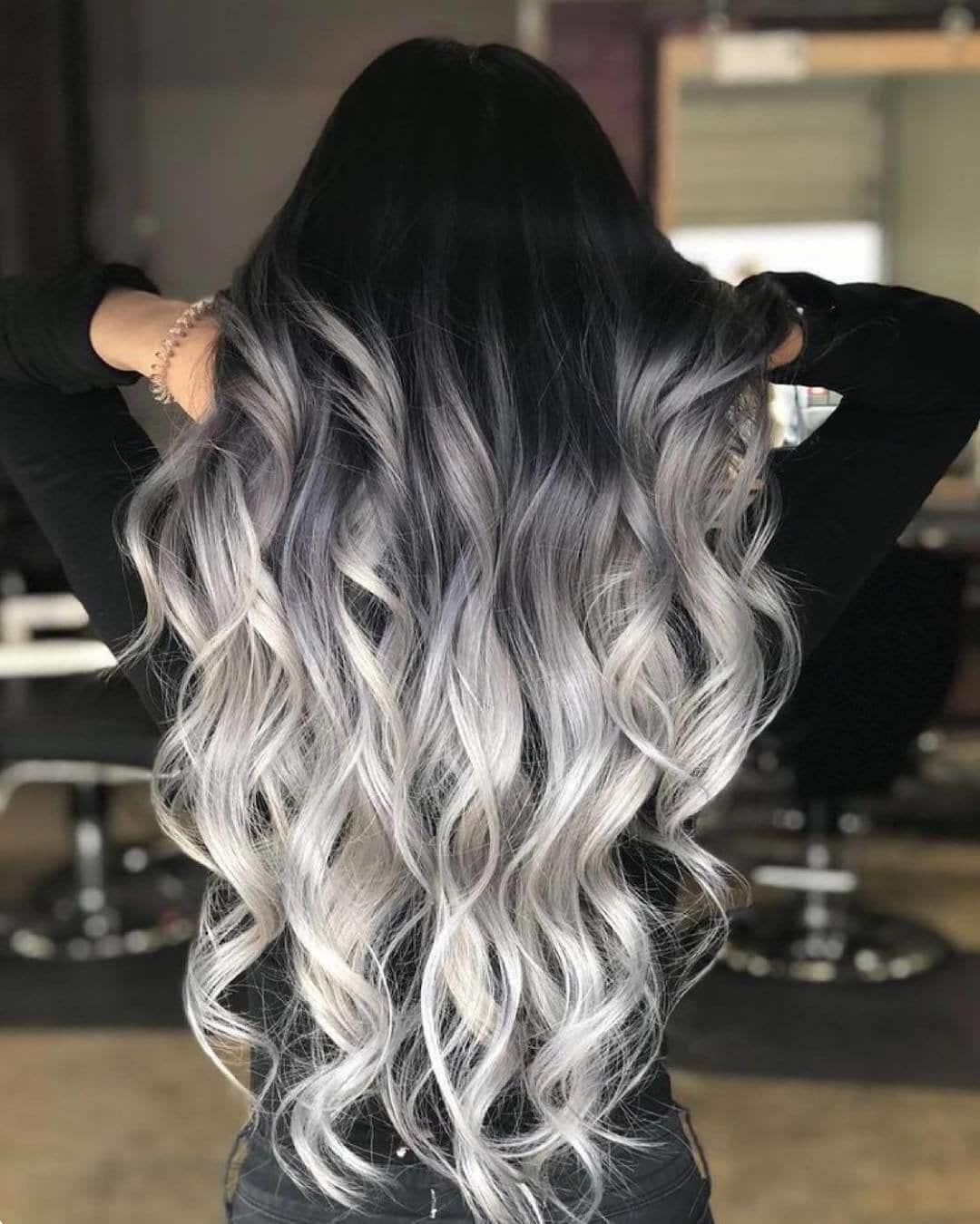 перехід кольорів на довге волосся