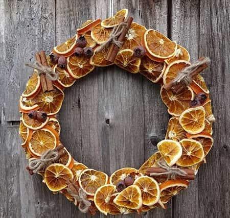 новорічний вінок з апельсина