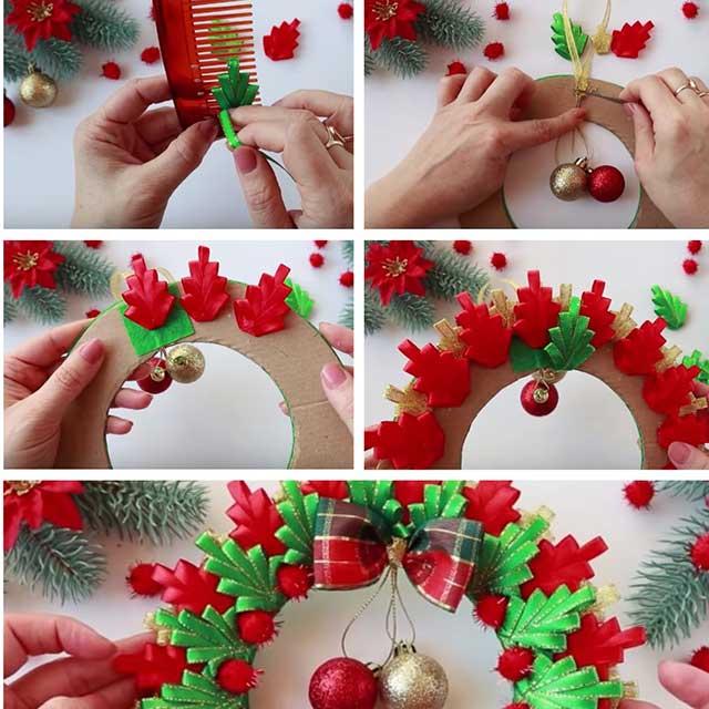 різдвяний вінок зі стрічок