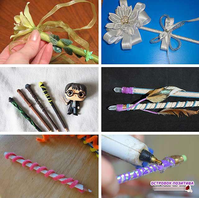 чарівна паличка з олівця для дівчаток