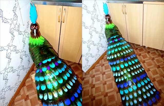 жар птах з пластикових пляшок