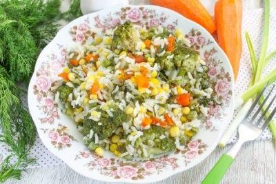 рис з овочами на гарнір