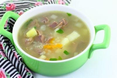 Суп з курячих шлунків