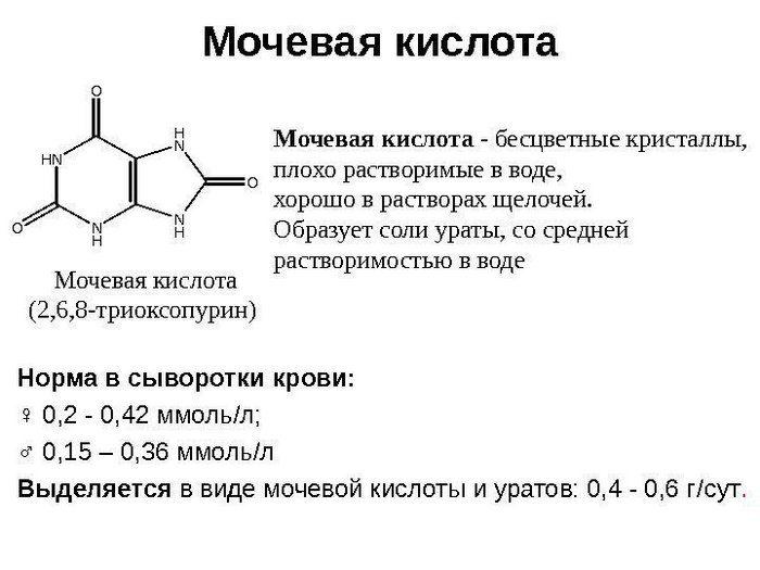 сечова кислота норма ммоль/л