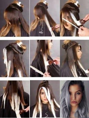 балаяж на темне волосся в домашніх умовах