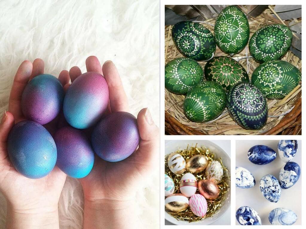 як розмалювати пасхальні яйця