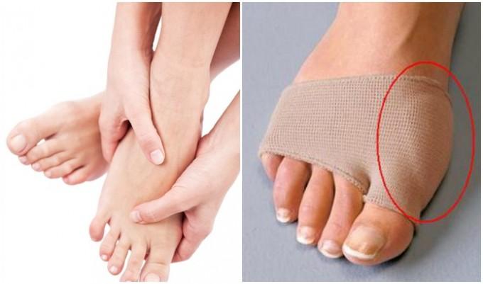 як лікувати гулю на нозі