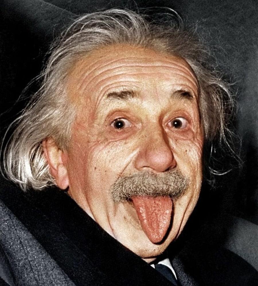 Чому Ейнштейн показав язик