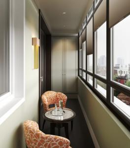 дизайн балкона 6 метрів