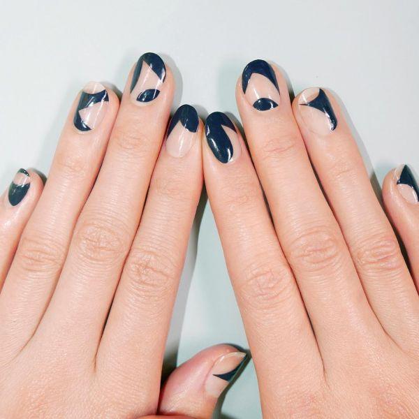 манікюр на круглі нігті
