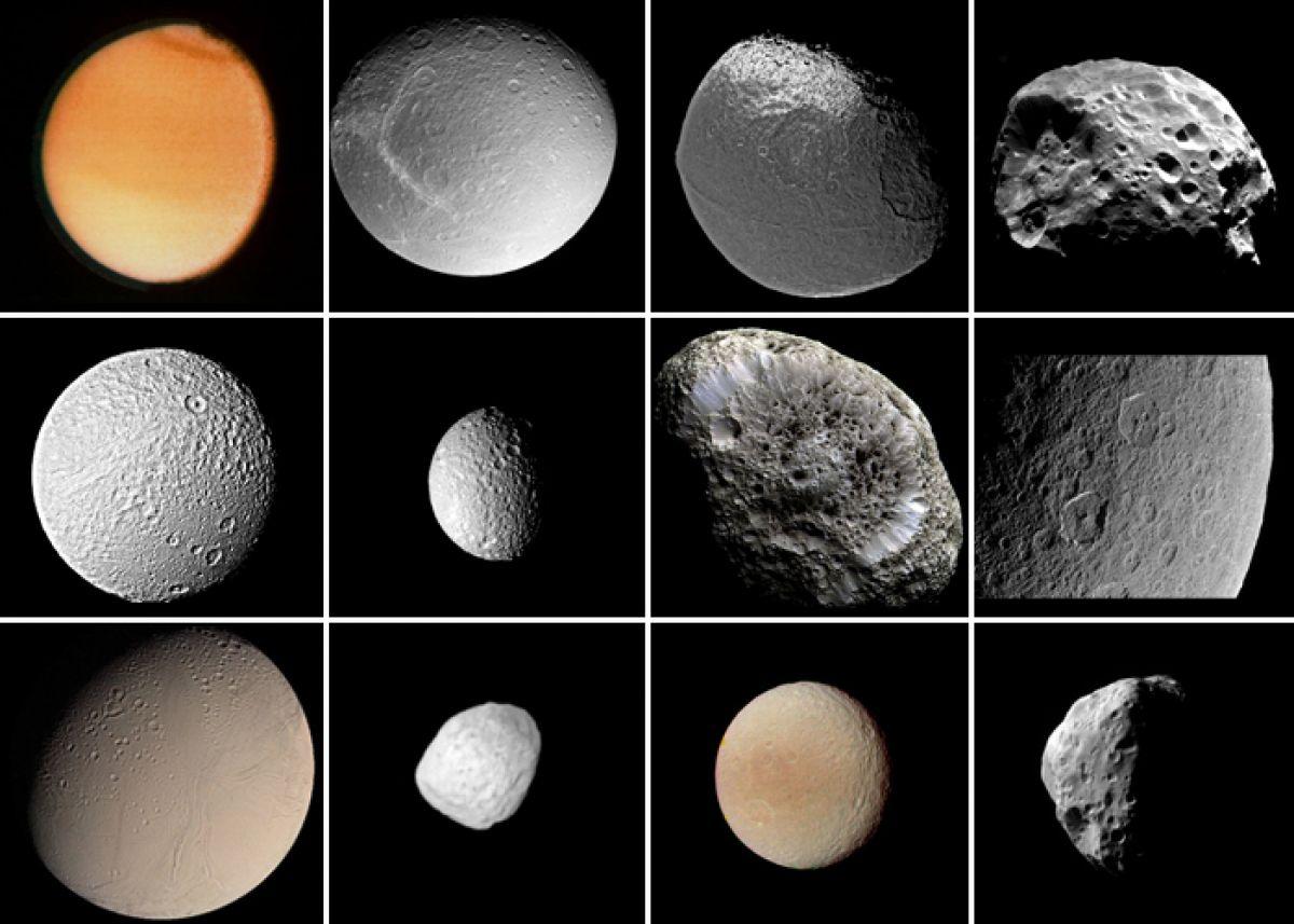 супутники сатурна фото