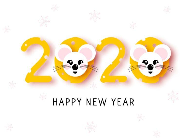 привітання з новим роком 2020 щура фото