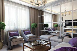 Інтер'єр вітальні на 2021 фото