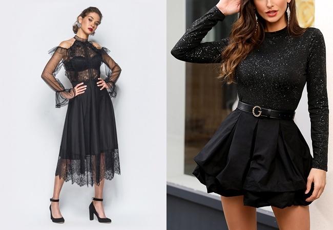 чорні модні плаття 2020