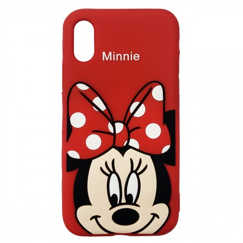 Чехол накладка для iPhone XS Max Disney Minnie Mouse Red