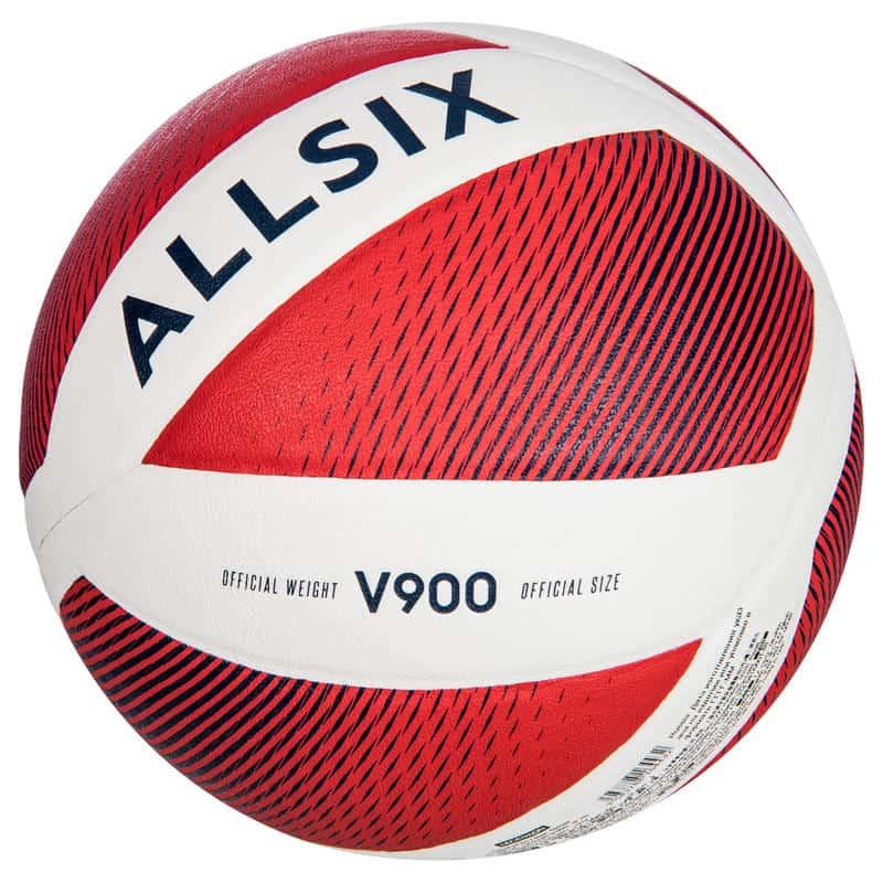 Волейбольный мяч V900 белый и красный