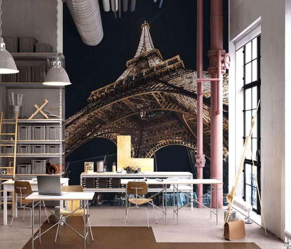 Фотообои с архитектурой в интерьере в стиле лофт